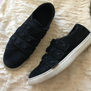 Rebecca Minkoff Black Sneakers Velcro Studded